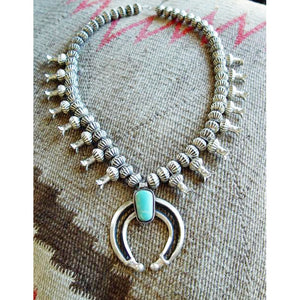 Native American Jewelry : Navajo:  Squash Blossom Necklace : Chris Hale : NAJ-28N - Getzwiller's Nizhoni Ranch Gallery