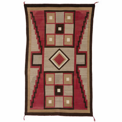 Crystal Optical Navajo Rug Weaving : Historic  : PC-42