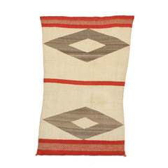 Twill Double Saddle Blanket Navajo Weaving : Historic : PC 41