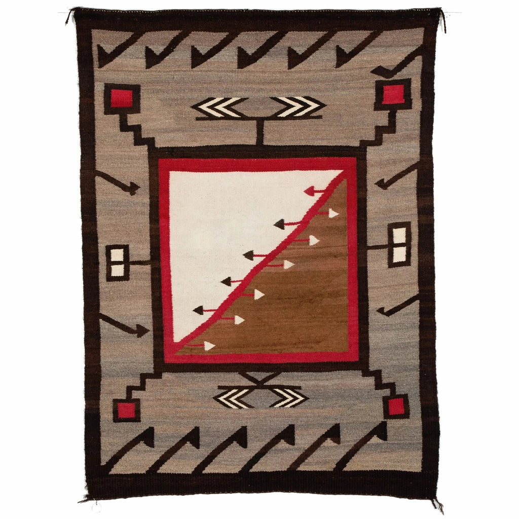 Crystal / Storm / JB Moore Variant : Historic Navajo Weaving : GHT 337 - Getzwiller's Nizhoni Ranch Gallery