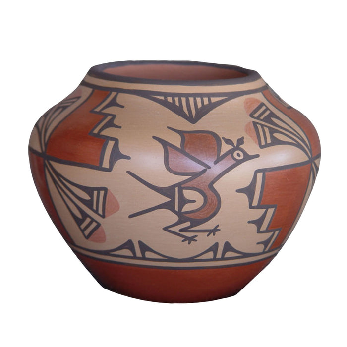 Zia Pueblo Pottery : Ruby Panana : Road Runner Design- rp16