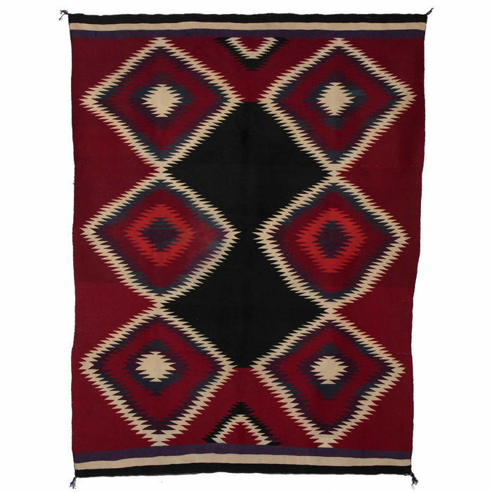 "Germantown Serape Navajo Weaving : Historic : GHT 783 : 57"" x 74"""