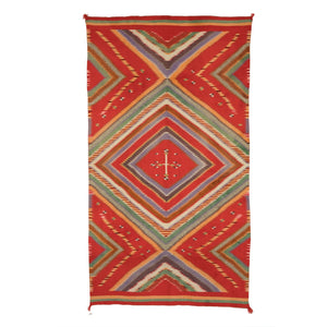 "Serape - Rio Grande Saltillo Style : Native American Textile: Antique : PC 35 : 53"" x 95"" - Getzwiller's Nizhoni Ranch Gallery"