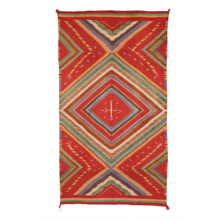 "Serape - Rio Grande Saltillo Style : Native American Textile: Antique : PC 35 : 53"" x 95"""