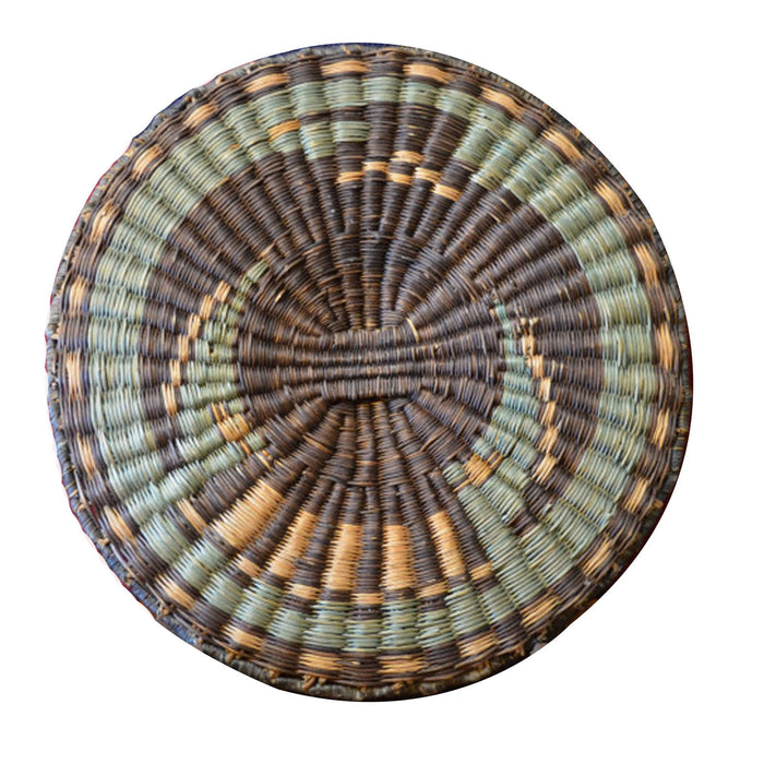 Native American Basket : Hopi Wicker Plaque : Basket 9