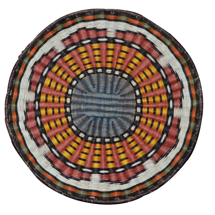 Native American Basket : Hopi Wicker Plaque : Basket 5