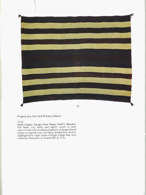 Early Classic 1st Phase Chief Blanket Ute Style : Historic Navajo Weaving