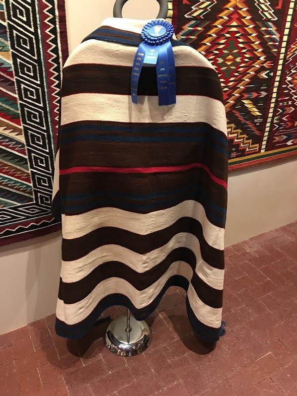 1st Phase Chief Blanket : Jalucie Marianito : Churro 1494 - Chiefs Blankets - Churro Collection- Navajo Rugs - Navajo Textiles