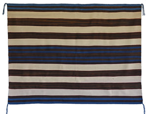 "1st Phase Navajo Chief Blanket : Judy Marianito : Churro 1568 : 52"" x 70"" - Getzwiller's Nizhoni Ranch Gallery"