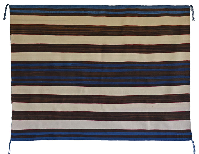"1st Phase Navajo Chief Blanket : Judy Marianito : Churro 1568 : 52"" x 70"""