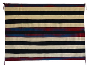 "1st Phase Navajo Chief Blanket : Judy Marianito : Churro 1569 : 54"" x 75"" - Getzwiller's Nizhoni Ranch Gallery"