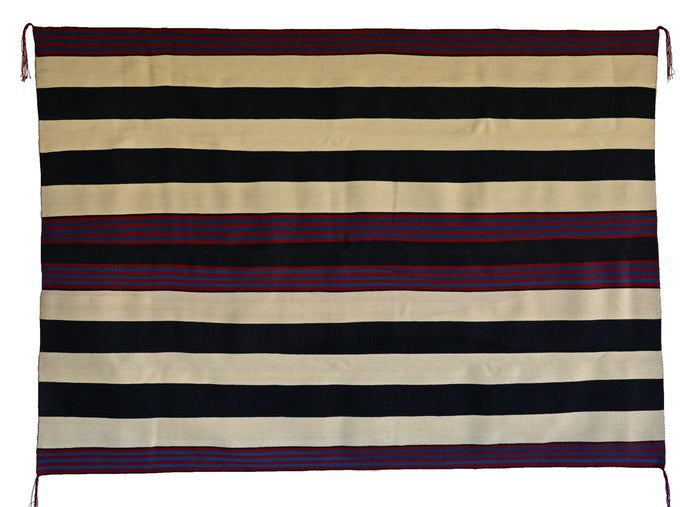 "1st Phase Navajo Chief Blanket : Judy Marianito : Churro 1569 : 54"" x 75"""