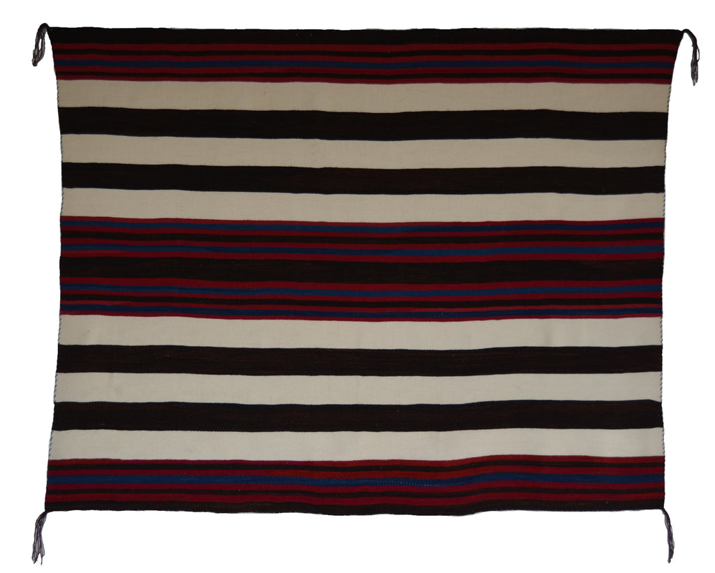 "1st Phase Navajo Chief Blanket : Lucie Marianito : Churro 1582 : 53"" x 65"" - Getzwiller's Nizhoni Ranch Gallery"