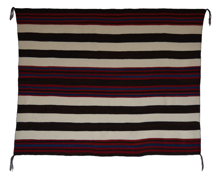 "1st Phase Navajo Chief Blanket : Lucie Marianito : Churro 1582 : 53"" x 65"""