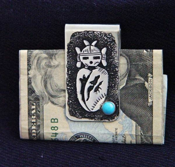 SOLD Jewelry : Kachina Money Clip : Richard Singer - Getzwiller's Nizhoni Ranch Gallery