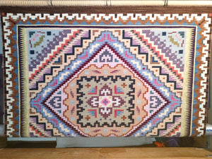 Burntwater Navajo Weaving : Elvie Van Winkle : on the loom