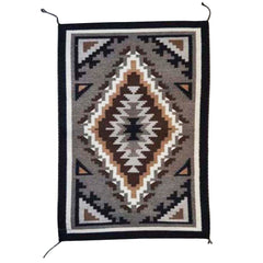 Two Grey Hills Navajo Weaving : Jennifer Bia : 2090