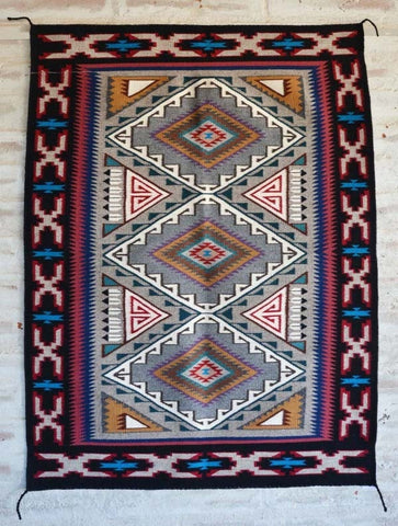 Teec Nos Pos Navajo Weaving : Sheila Sagg : 2096 from Nizhoni Ranch Gallery Navajo Rugs for Sale