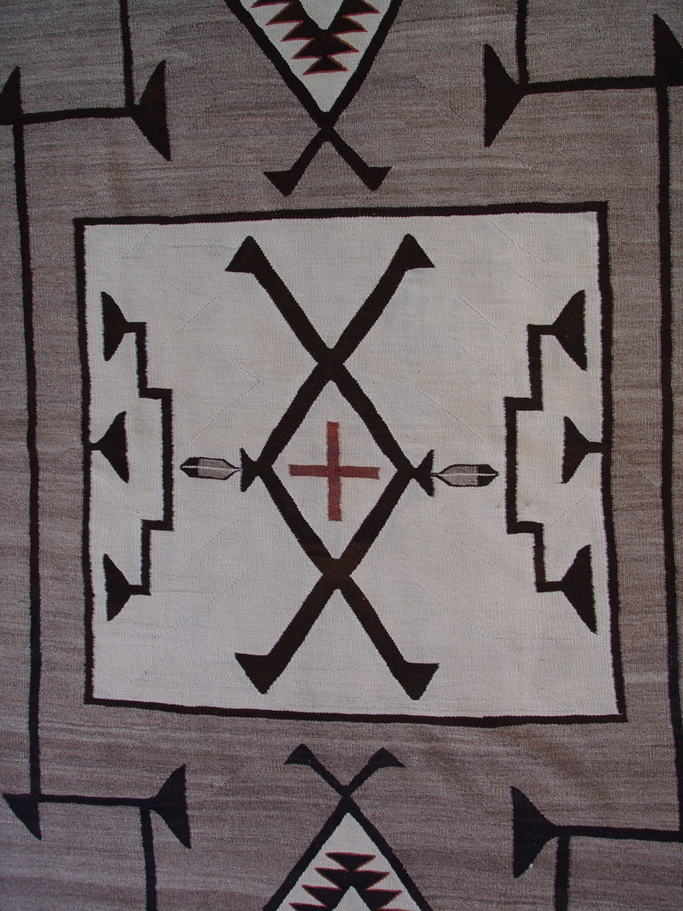 Crystal Area - Hero Twin Pictorial Navajo Blanket : Historic : GHT 2131 - Getzwiller's Nizhoni Ranch Gallery