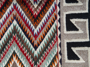 "Red Mesa / Teec Nos Pos Navajo Weaving : Historic : GHT 214 : 54"" x 74"" - Getzwiller's Nizhoni Ranch Gallery"