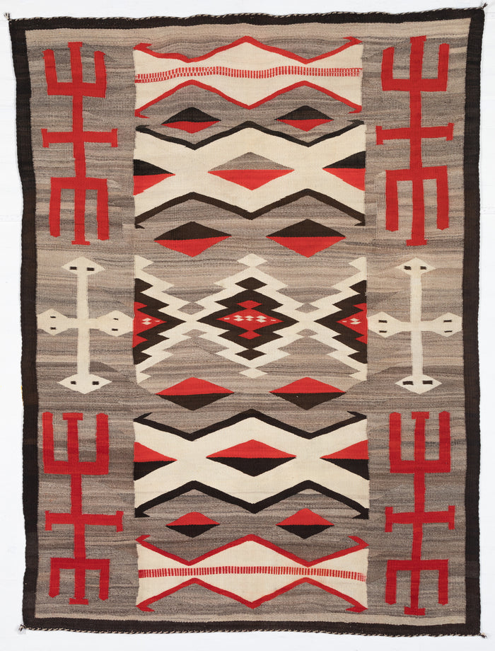 Crystal - Hero Twin Pictorial Navajo Weaving : Historic : GHT 2201