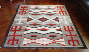 "Crystal - Hero Twin Pictorial Navajo Weaving : Historic : GHT 2201 : 66"" x 89"" - Getzwiller's Nizhoni Ranch Gallery"