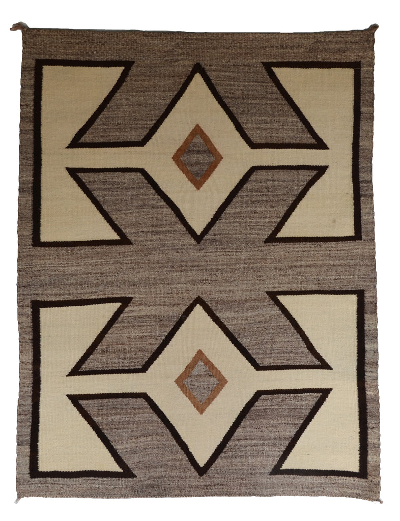 SOLD - Saddle Blanket - Double -  Two Grey Hills: Historic : GHT 2289