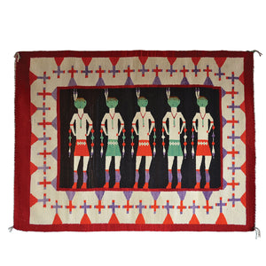 "Yei Be Chei - Nightway Ceremony : Historic : GHT 2216 : 42"" x 57"" - Getzwiller's Nizhoni Ranch Gallery"