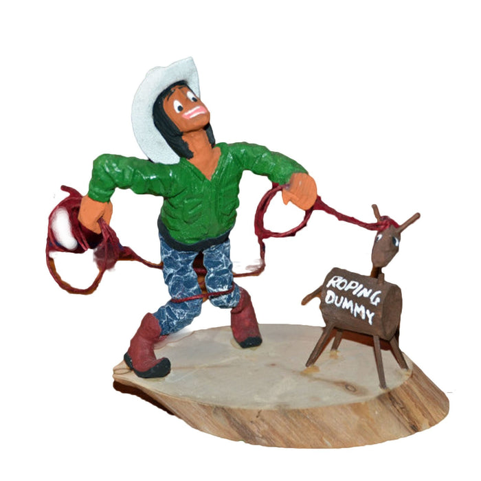 SOLD Koshare Rodeo Wood Carving : Virgil Wood