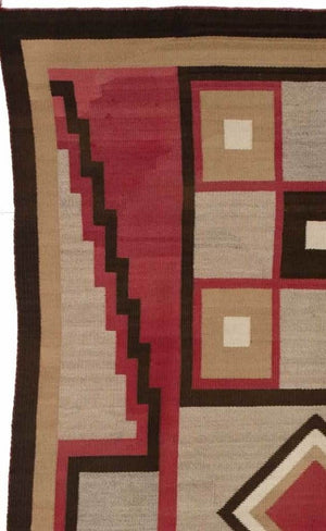 "Crystal Optical Navajo Rug Weaving : Historic  : PC 42 : 53"" x 79"" - Getzwiller's Nizhoni Ranch Gallery"