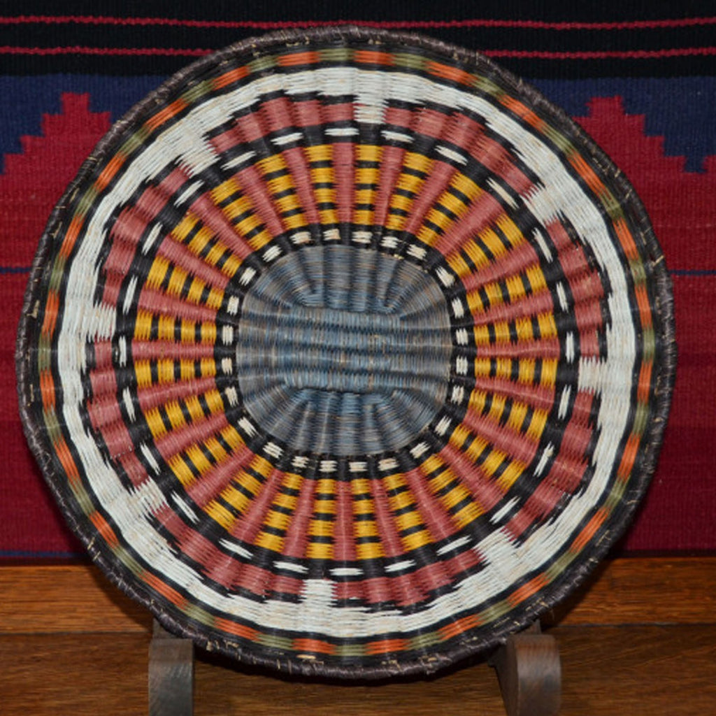 Basket : Hopi Wicker Plaque : Basket 5 - Basketry - Other Art- Getzwiller's Nizhoni Ranch Gallery - NavajoRug.com
