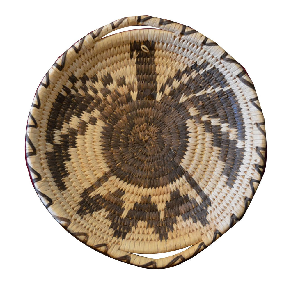 Native American Basket : Papago Indian Eagle Pictorial Basket : Basket 7 - Getzwiller's Nizhoni Ranch Gallery