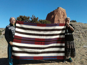 "2nd Phase Navajo Chief Blanket : Julia Upshaw : Churro 1562 : 47""  x 65"" - Getzwiller's Nizhoni Ranch Gallery"