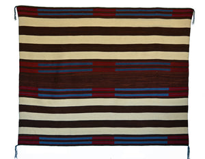 "HOLD 2nd Phase Navajo Chief Blanket : Lucie Marianito : Churro 1570 : 69"" x 56"" - Getzwiller's Nizhoni Ranch Gallery"