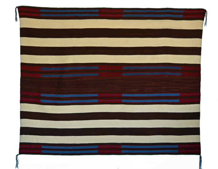 "2nd Phase Navajo Chief Blanket : Lucie Marianito : Churro 1570 : 69"" x 56"""