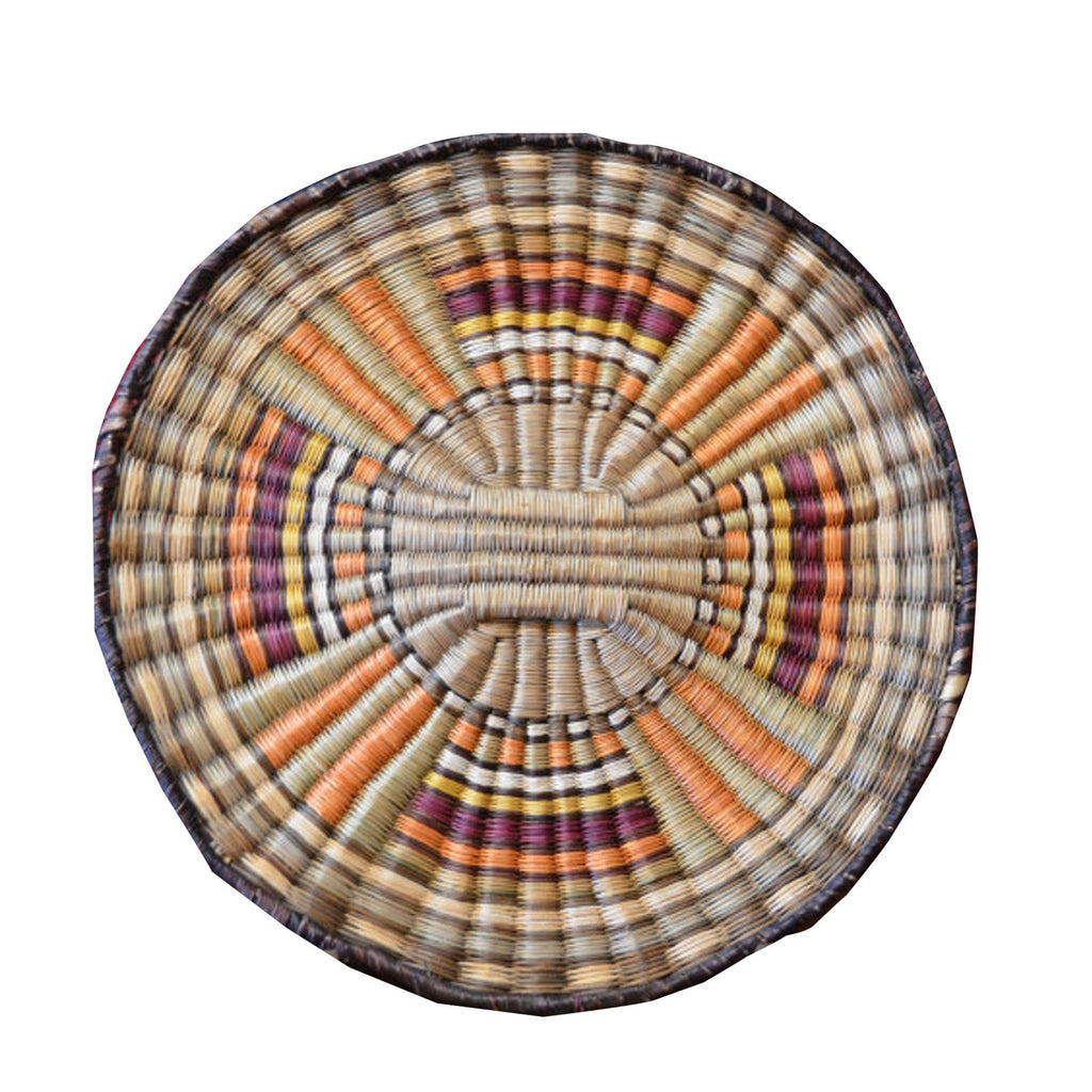 Native American Basket : Hopi Wicker Plaque : Basket 8 - Getzwiller's Nizhoni Ranch Gallery