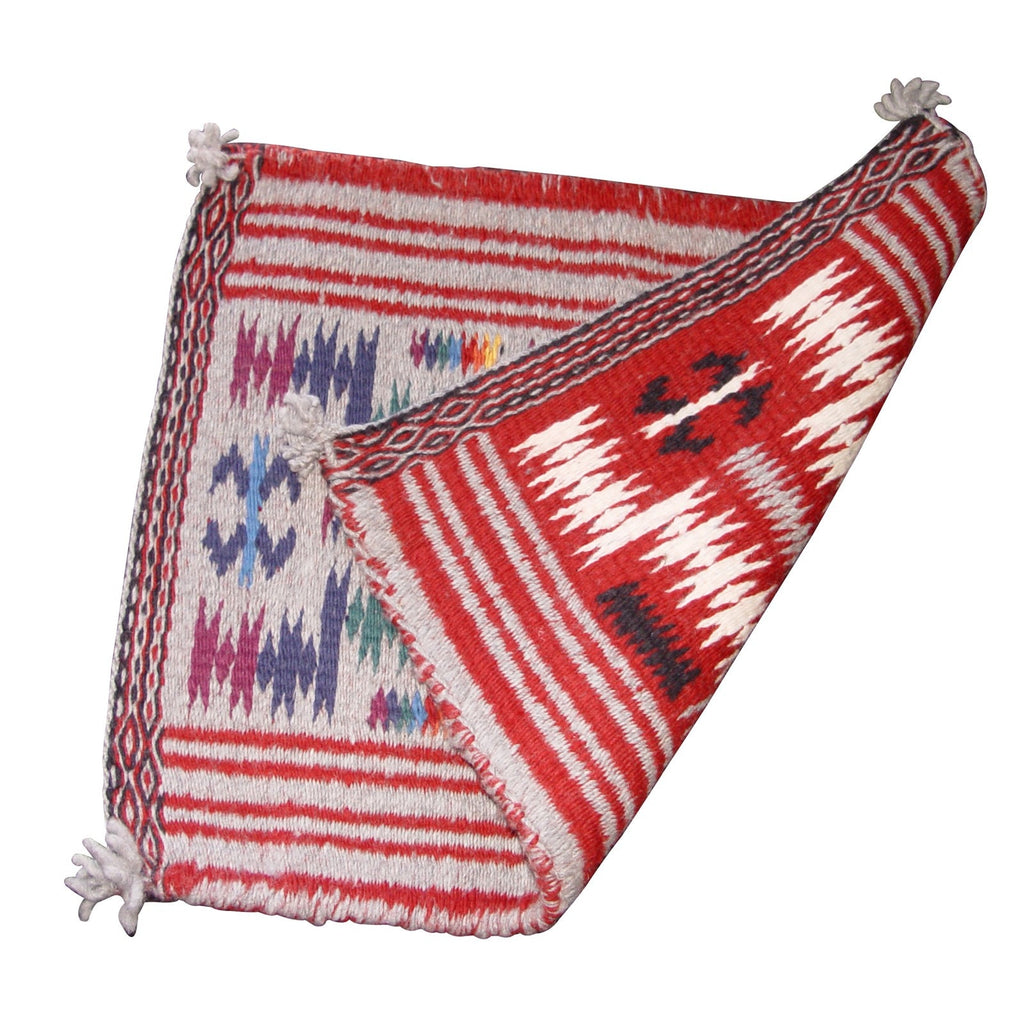 Two-Faced Storm Pattern Navajo Weaving : Alice Charlie : 3028 - Getzwiller's Nizhoni Ranch Gallery