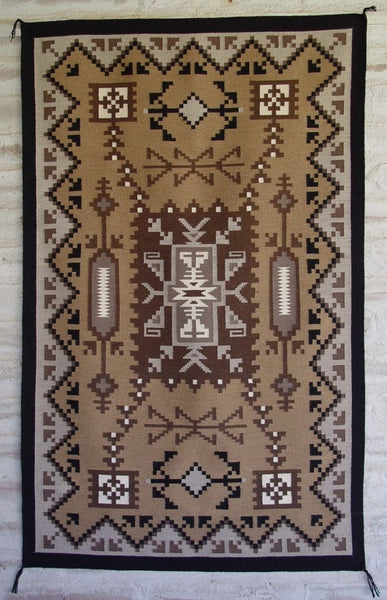 Two Grey Hills Storm Pattern Navajo Weaving Mary Lee