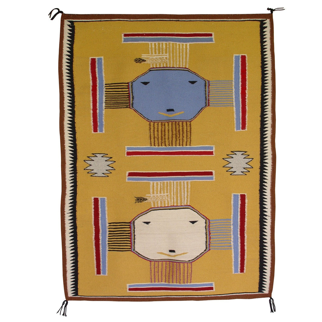 Sandpainting Pictorial Navajo Weaving : Ester Benally : 3070 - Getzwiller's Nizhoni Ranch Gallery
