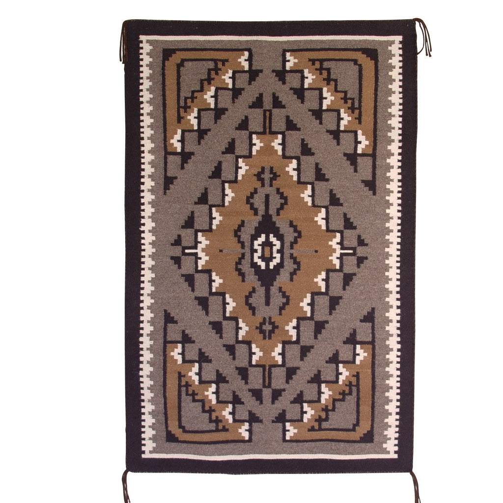 Two Grey Hills Navajo Weaving : Anne Joe : 3149 - Getzwiller's Nizhoni Ranch Gallery