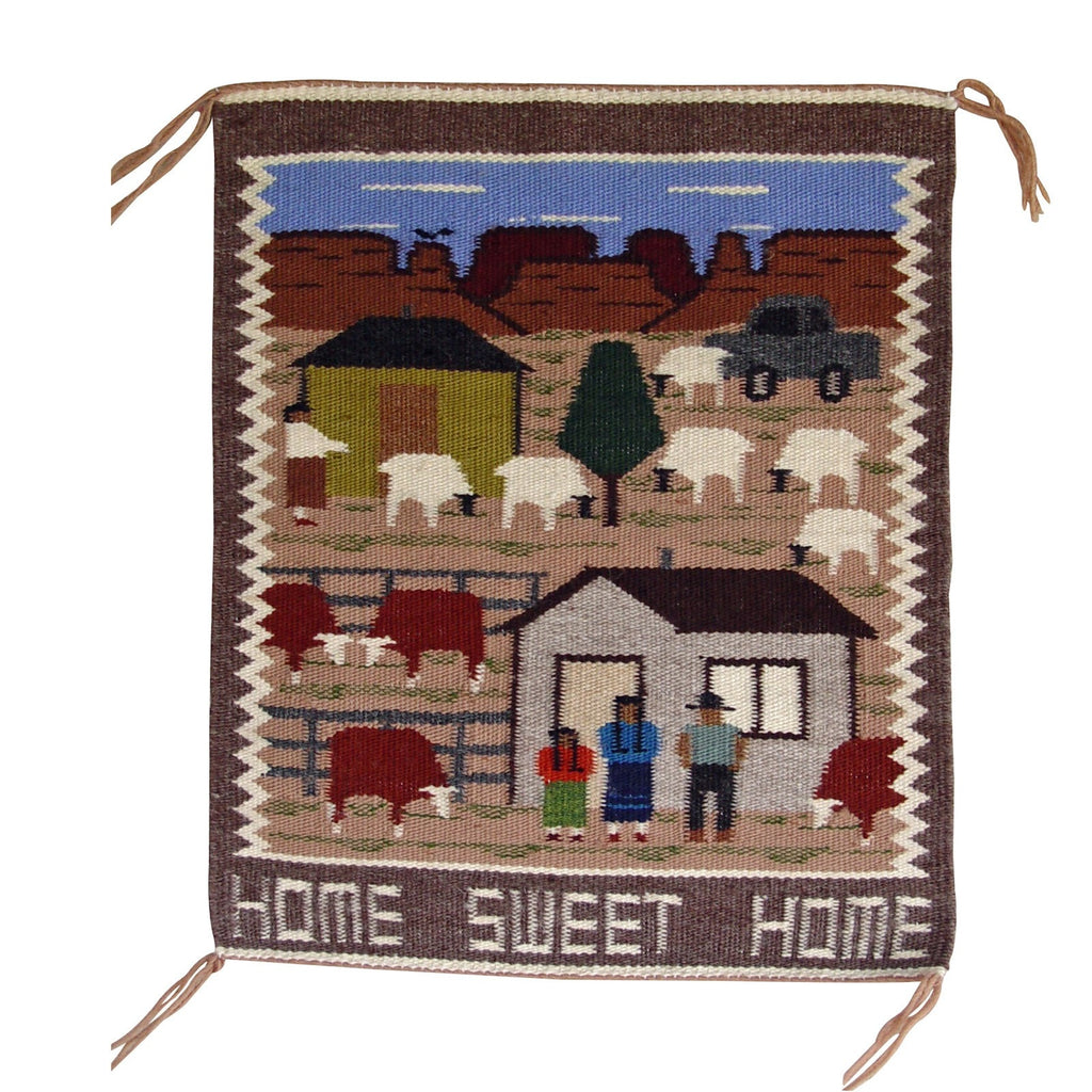 Pictorial - Navajo Daily Life Weaving : Ella Begay : 3158 - Getzwiller's Nizhoni Ranch Gallery