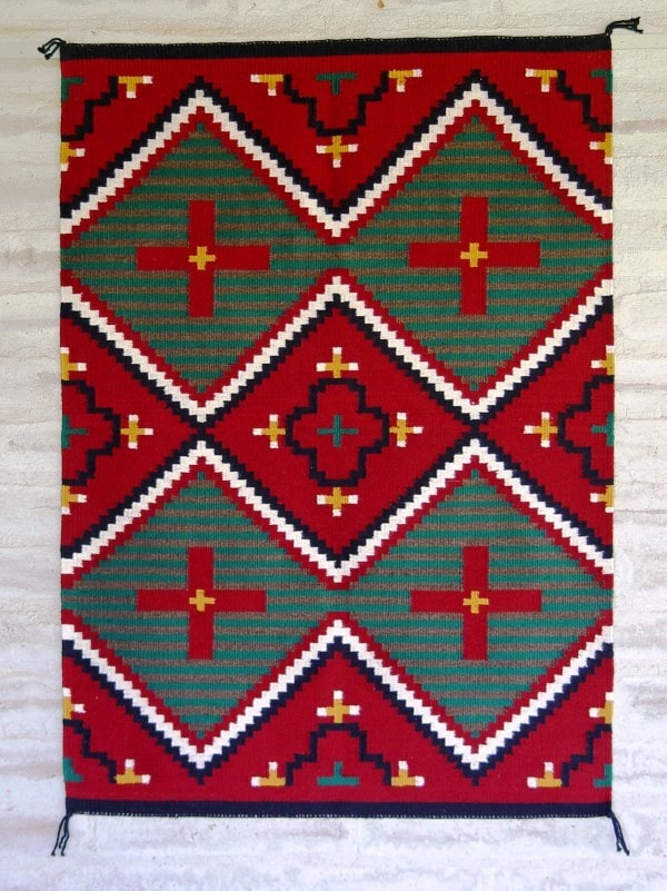 Germantown Style Navajo Weaving : James Joe : 3177 - Getzwiller's Nizhoni Ranch Gallery