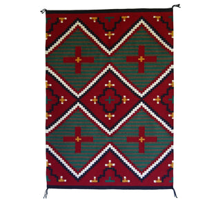 Germantown Style Navajo Weaving : James Joe : 3177 : 34″ x 48″ - Getzwiller's Nizhoni Ranch Gallery