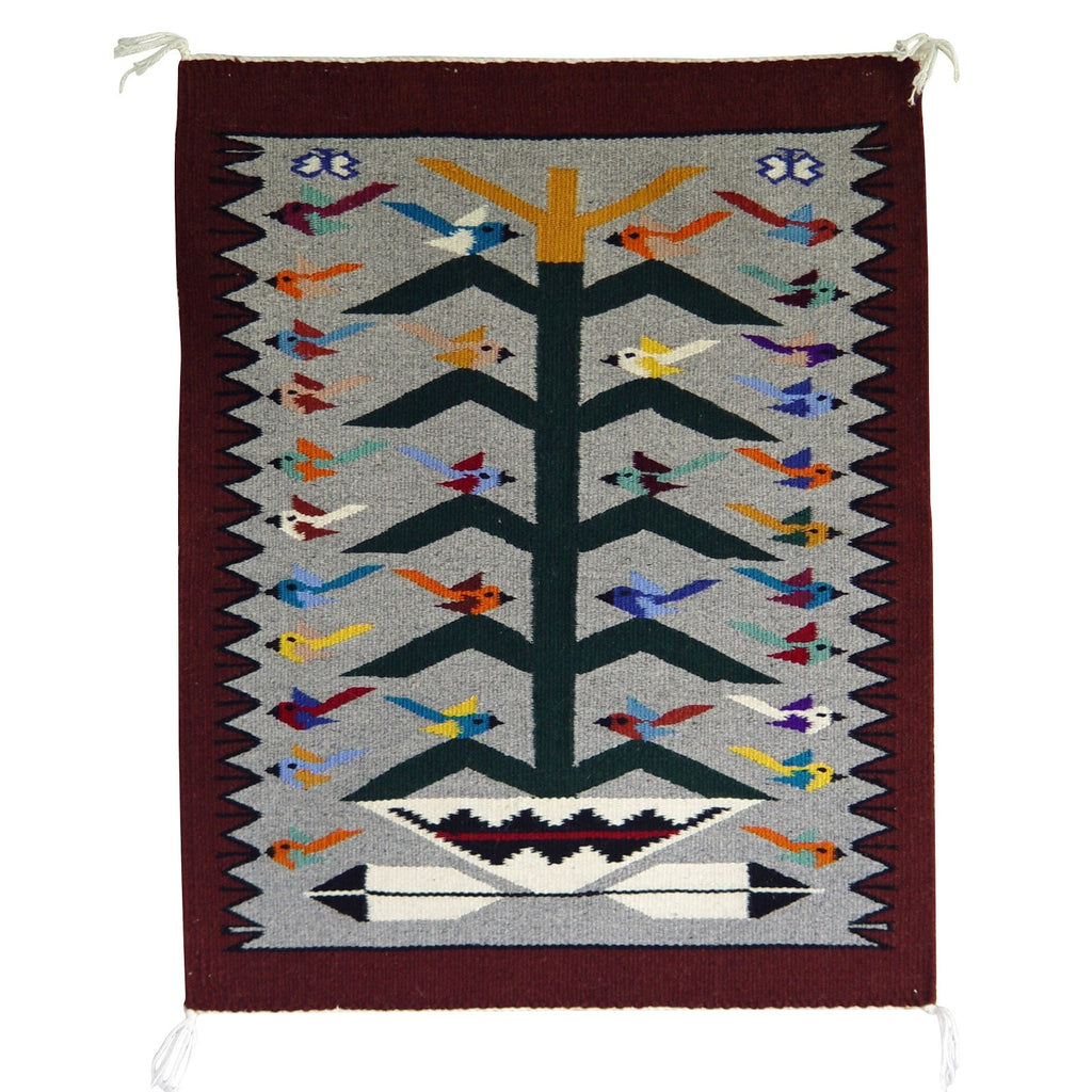 Tree of Life Navajo Weaving : Nora Bitah : 3203
