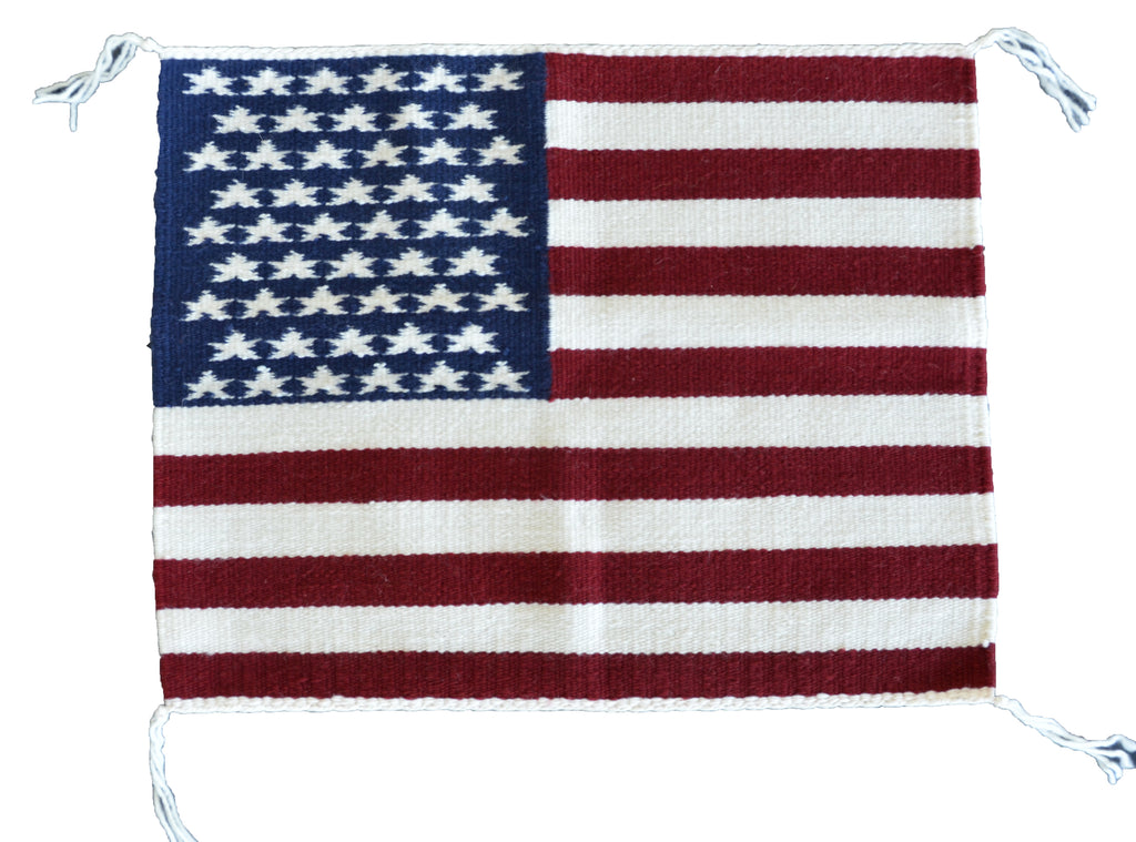 Navajo rug pictorial of the United States Flag