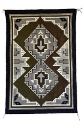 Two Grey Hills Navajo Rug Weaving : 3275 SG