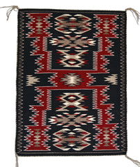 SOLD - Storm Pattern Navajo Rug Weaving : Mae Jean Chester : 3292