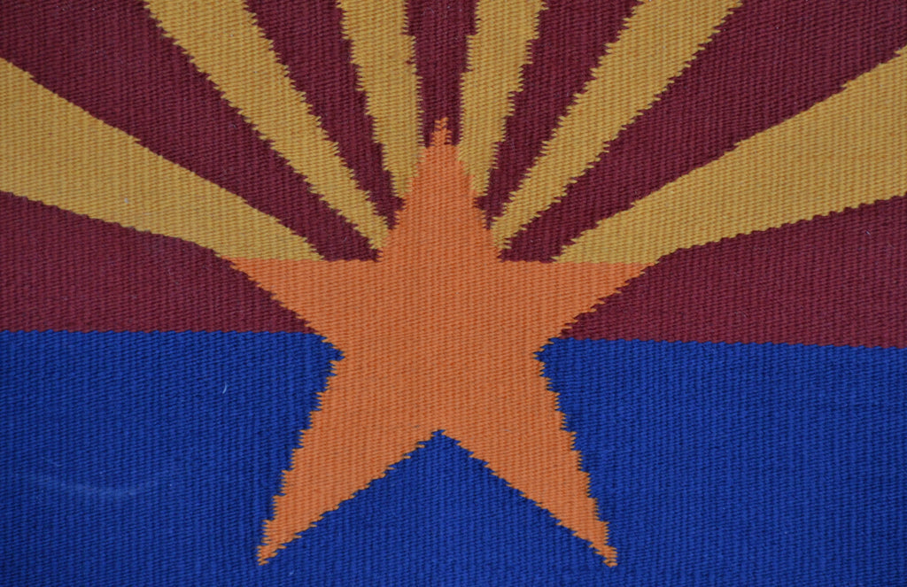 Arizona Flag Pictorial Navajo Rug