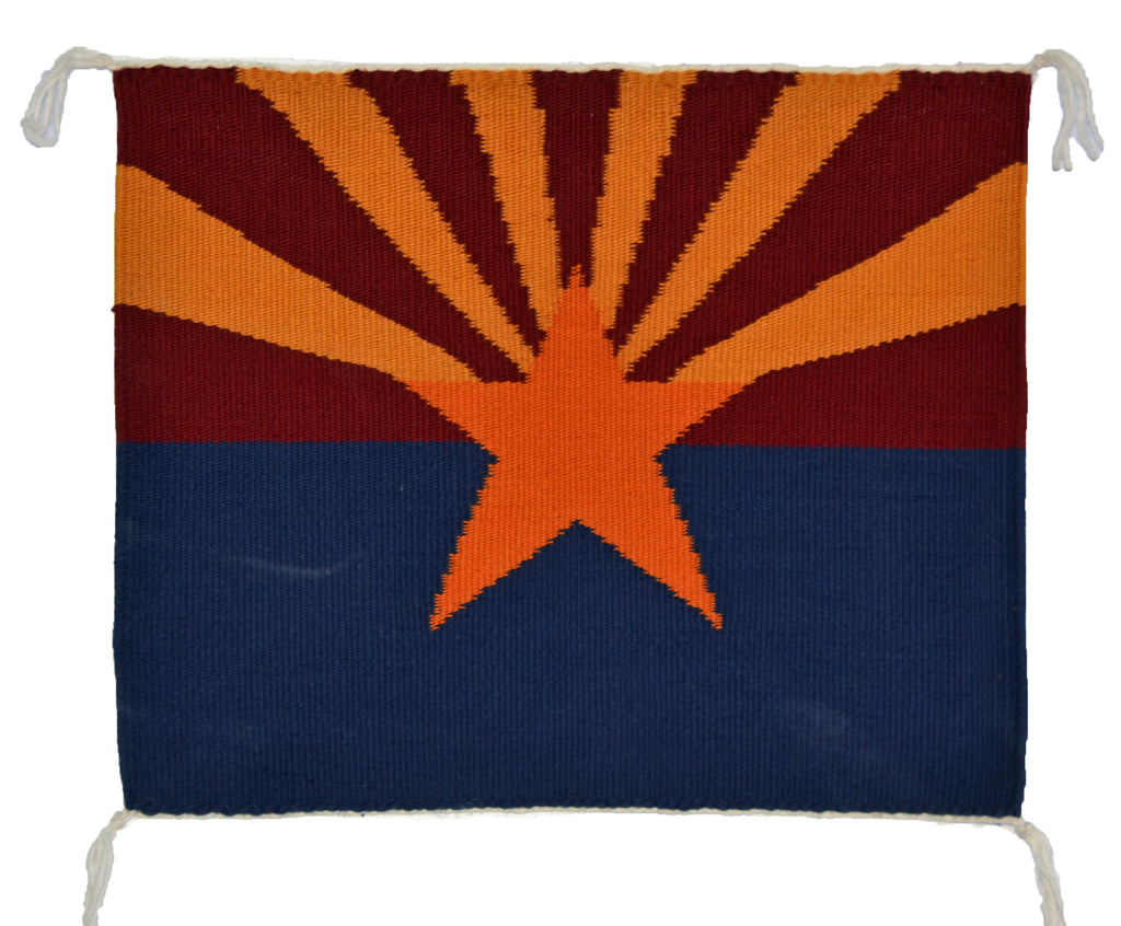 Arizona Flag Navajo Weaving : Jo Anne Begay : 3300 - Getzwiller's Nizhoni Ranch Gallery