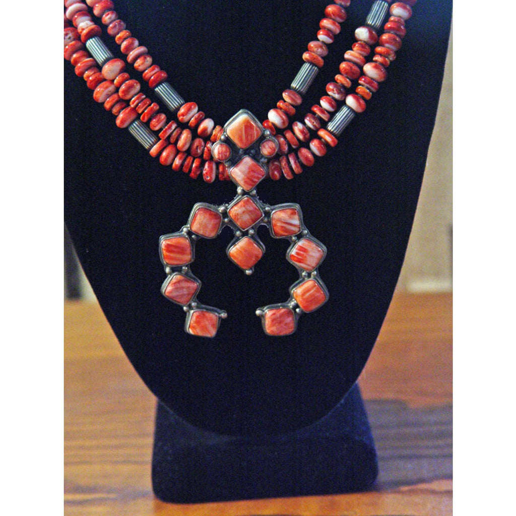 Native American Jewelry : Navajo : Squash Blossom Necklace : J Mariano : NAJ-N19 - Getzwiller's Nizhoni Ranch Gallery
